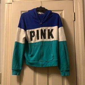 Victoria Secret Pink zip up hoodie. Size M